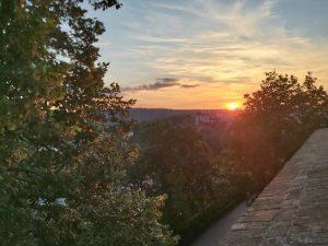 Der Blick von der Burg Špilberk.