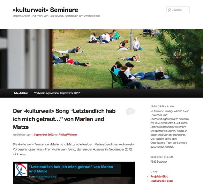 Seminar-Blog