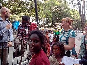Straßenkinder in Bangalore