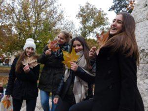Genießen des Herbstwetters mit meiner Deutsch-AG