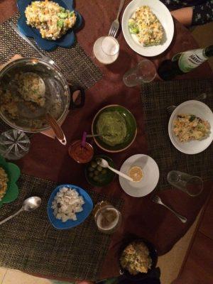 Das leckere Abendessen, das wir bei Mareike und Hagen kochten