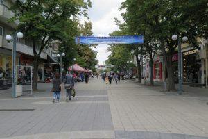 in der Fußgängerzone in Burgas