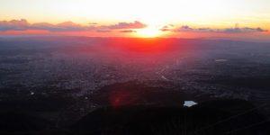 Tirana Sonnenuntergang